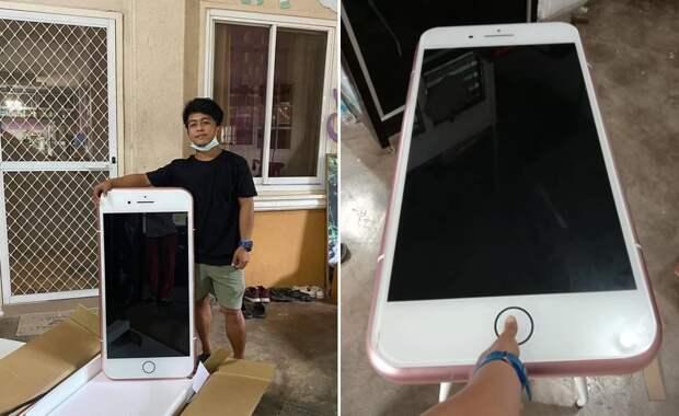 Житель Таиланда заказал смартфон, но удивился его размеру
