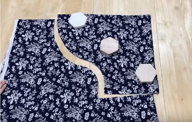 Изящная блузка-бабочка без выкройки легко и просто