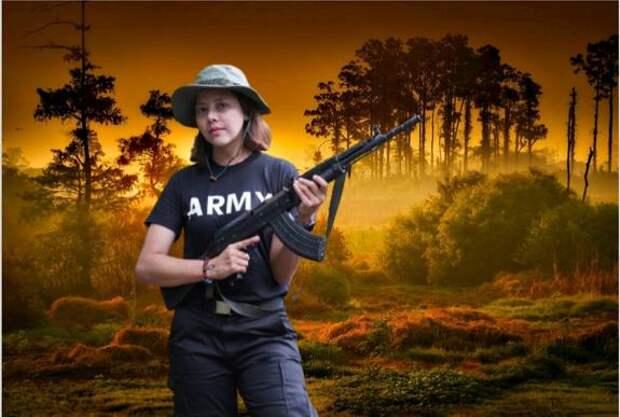Известная бирманская фотомодель присоединилась к восстанию против военной хунты