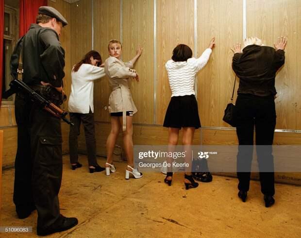 Задержание проституток в Москве 90-ых