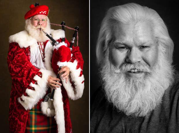 Добрый праздничный фотопроект: такие разные Санта-Клаусы