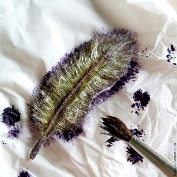 Текстильные перья (DIY)