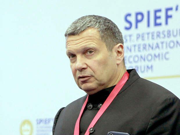 Россияне в петиции на сайте change.org предложили признать телеведущего Соловьева иностранным агентом