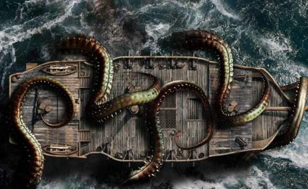 Согласно работам доктора Пакстона, средний размер гигантского кальмара — около двадцати метров. Вполне достаточная длина, чтобы испугать кого угодно.