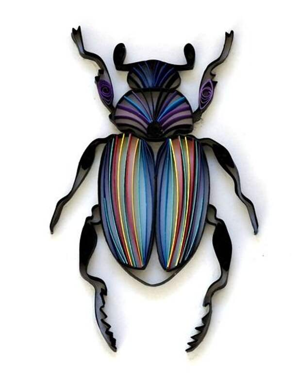 This quilled beetle is the BOMB! Natasha's work is awesome, right up there with Yulia's.