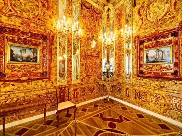 Янтарная комната. \ Фото: seura.fi.