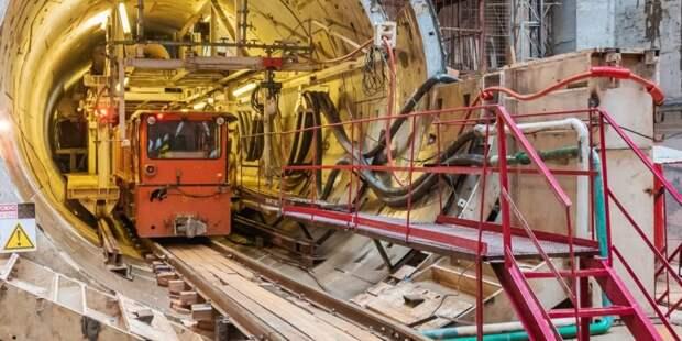 Собянин: Проходка тоннелей БКЛ метро будет завершена до конца года. Фото: М. Мишин mos.ru