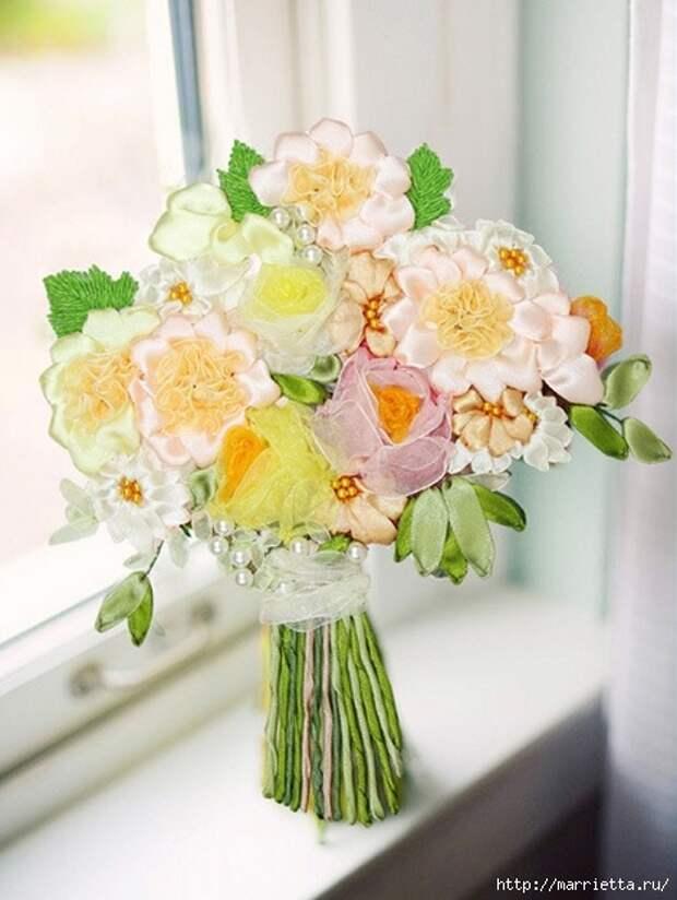 Ручная работа - цветы из ткани