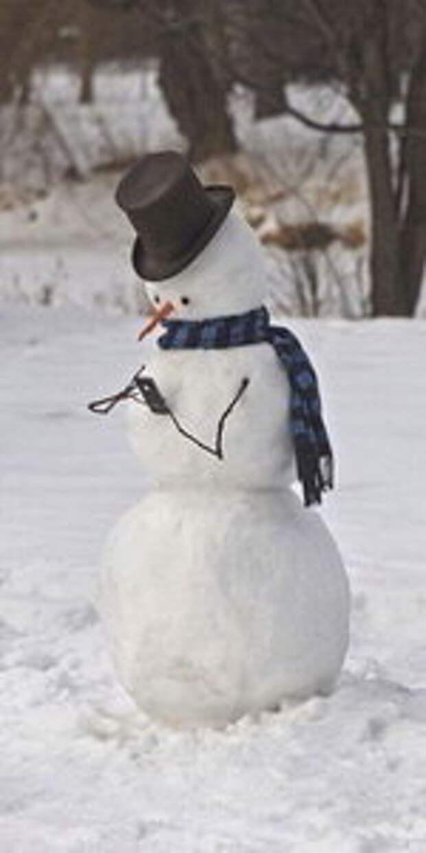 Современный снеговик