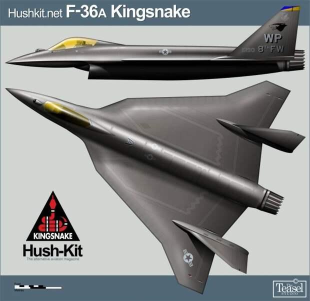 Концепт истребителя F-36 Kingsnake: какой может быть замена для F-16 и F-35