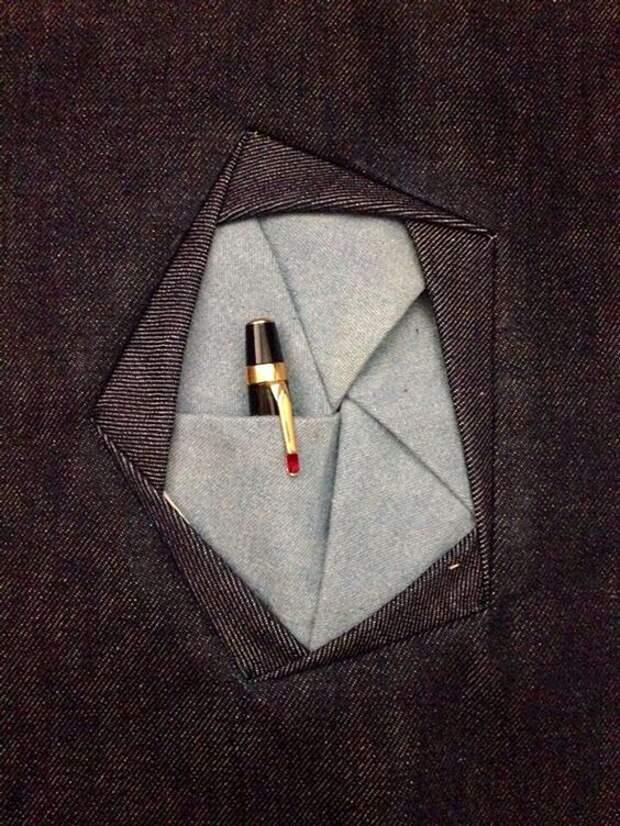 как кроить карман