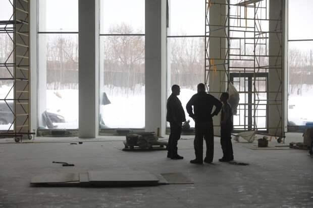 Строительство нового павильона наНижегородской ярмарке находится назавершающем этапе