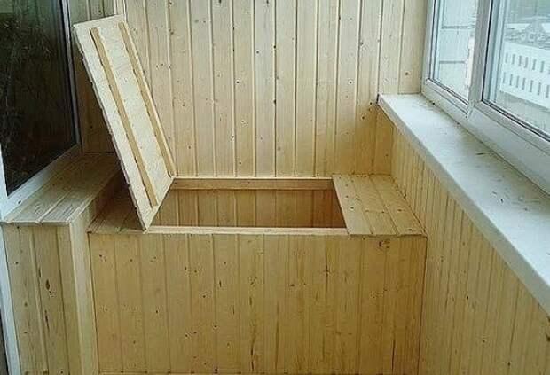 Системы хранения на балконе.