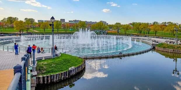 Собянин открыл сезон фонтанов в Москве. Фото: М.Денисов, mos.ru