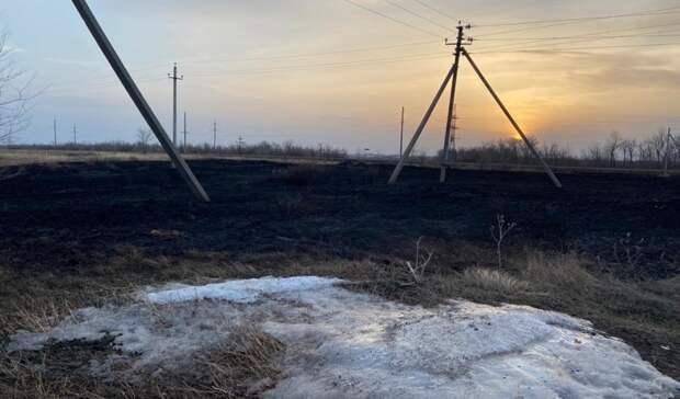 С начала 2021 года в Оренбуржье произошло 9 степных пожаров