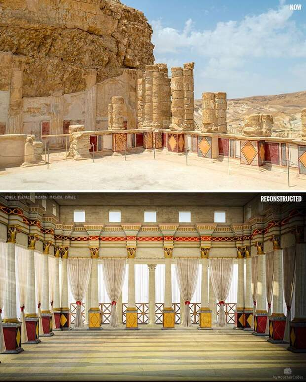 Художники воссоздали первозданный блеск 7 известных исторических руин