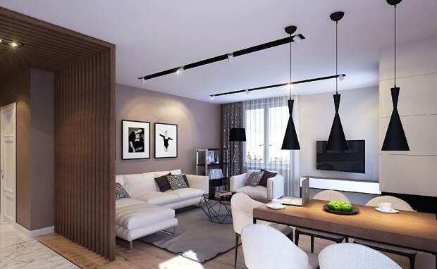 Нестандартное, но очень симпатичное оформление пространства при помощи декорирования его в пастельных тонах.