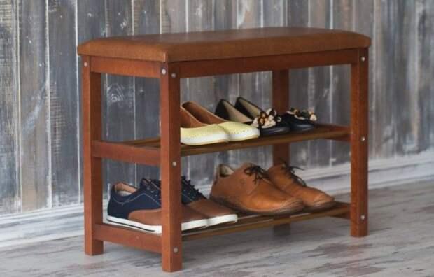 Лавка с подставкой для обуви своими руками