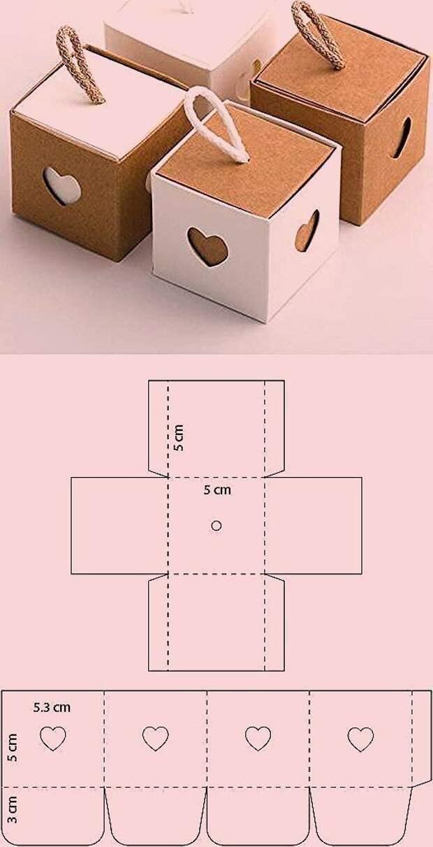 Шкатулка - кубик для подарка diy
