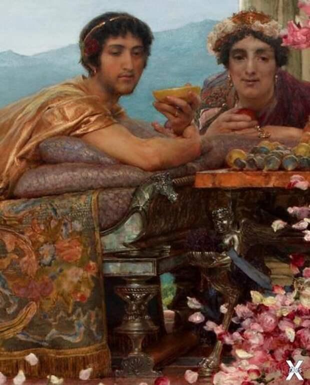 Фрагмент картины «Розы Гелиогабала». ...