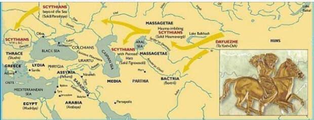 карта-скифы