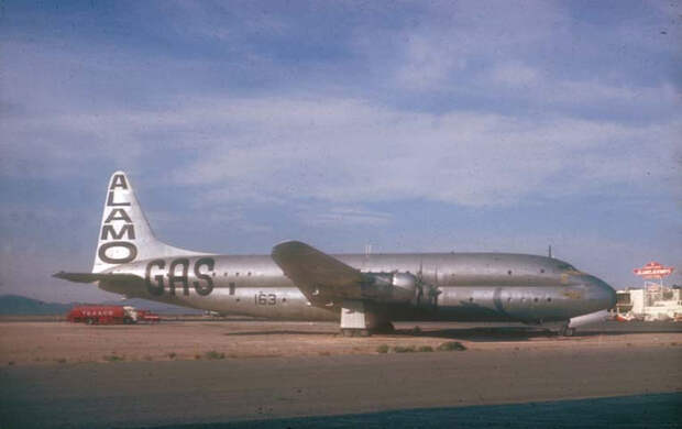 Lockheed R6V Constitution в роли рекламного биллборда компании Alamo Airways. Фото: Golet Air & Space Museum