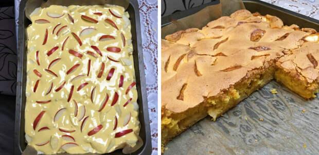 Шарлотка с яблоками. По этому рецепту получается настолько вкусная, что трудно оторваться!