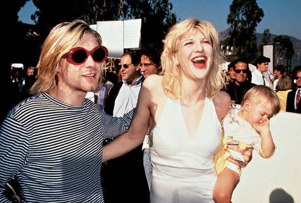 Курт и Кортни с дочерью Френсис Бин, 1993