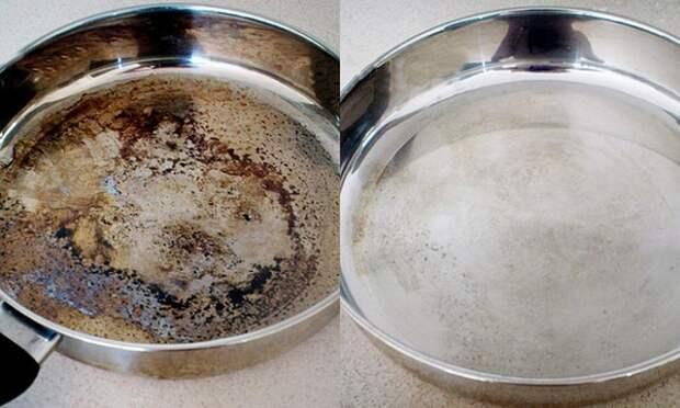 Газированной водой можно удалить пригоревший жир на сковороде. / Фото: amazingajmer.com