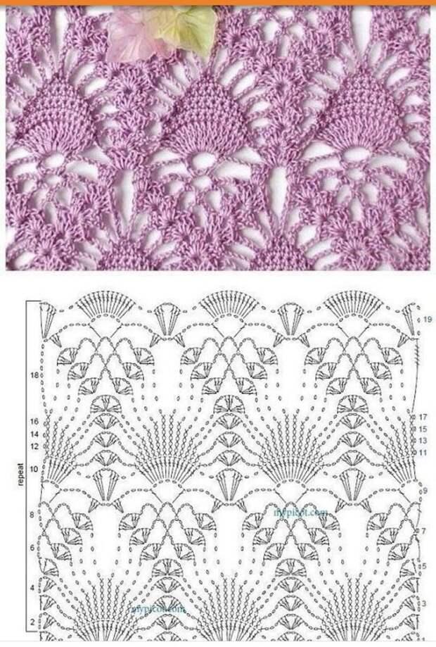 Красивые ажурные узоры вязания