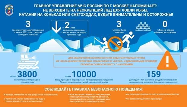 В Москве вдвое сократилось число происшествий на водных объектах