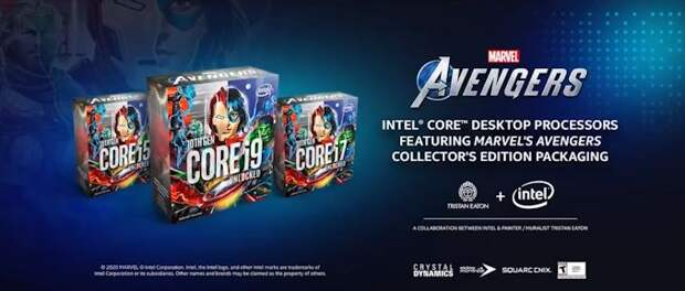 Intel представила процессоры Marvel's Avengers Collector's Edition Packaging
