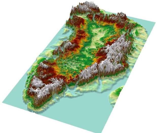 Как будет выглядеть остров Гренландия, когда на нем растает весь лед