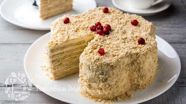 Торт без ВЫПЕЧКИ с печеньем МАРИЯ — хочется кусочек