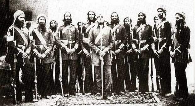 Сикхи, фото примерно 1860 года