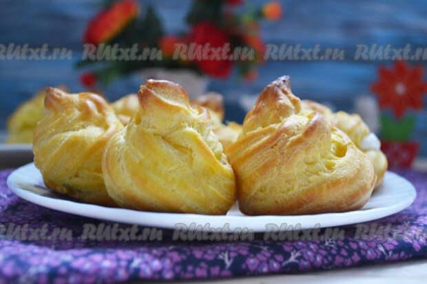 Юмбрики - вкуснейшие заварные пирожные с творожным кремом