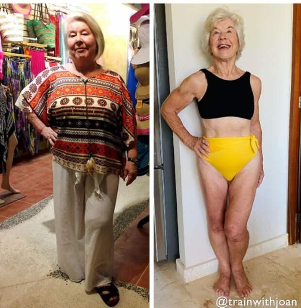 75 летняя Джоан начала ходить в спортзал и доказала: даже в преклонном возрасте возможно все