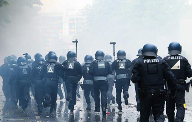 В Дрездене полиция применила силу против участников беспорядков