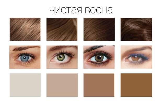 Как подобрать цвет волос по цветотипу и цвету глаз