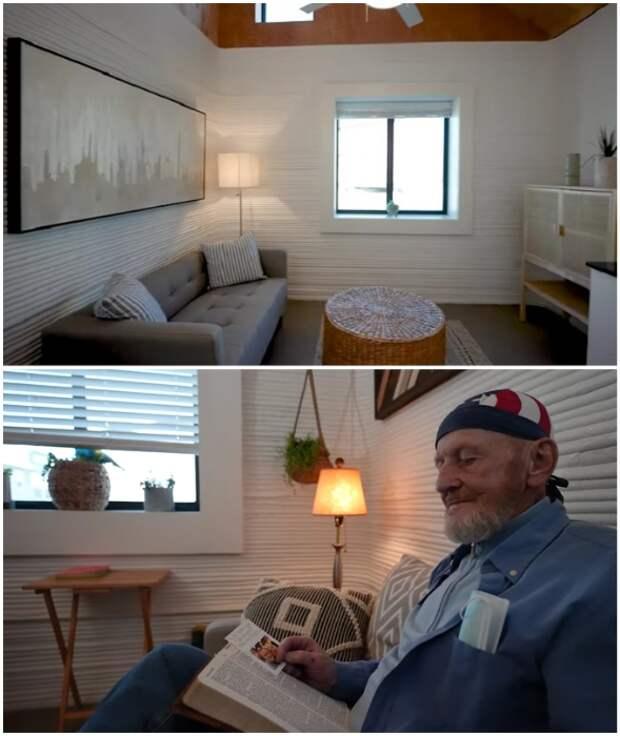 Бывший бездомный поделился впечатлениями о жизни в напечатанном на 3D принтере доме
