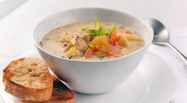 Суп с икрой мойвы