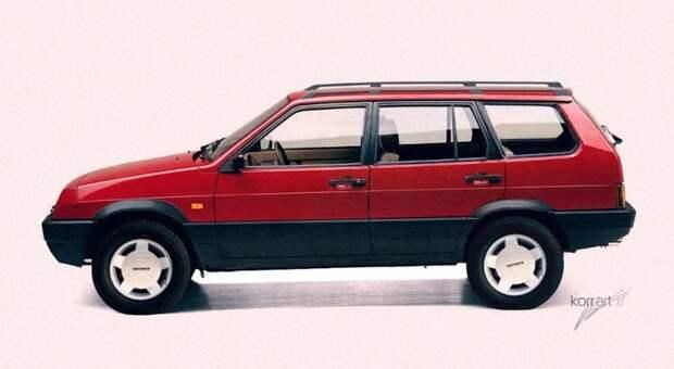 ВАЗ 2109В Лесник авто, автодизайн, автомобили, дизайн, фотомонтаж, фотошоп, юмор, янгтаймер