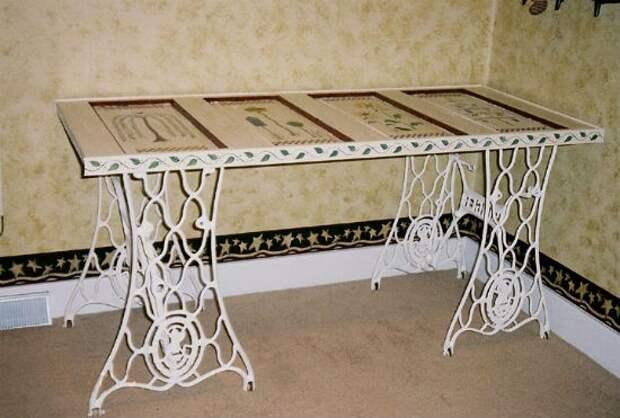 Станины швейных машинок в интерьере