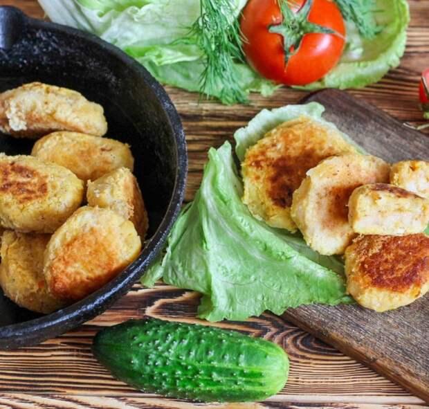 Картофельные котлеты с зелёным горошком. \ Фото: gogole.com.