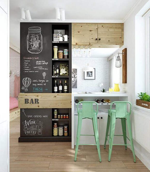 10 идей для дизайна кухни в стиле кафе