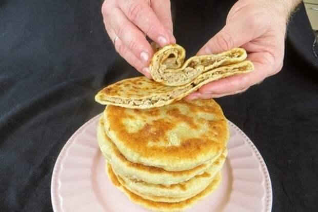Фото к рецепту: Вкуснее беляшей и чебуреков! лепешки с начинкой