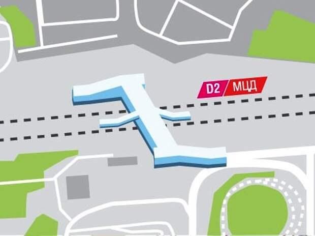 Станцию МЦД Щукинская соединят переходом с метро