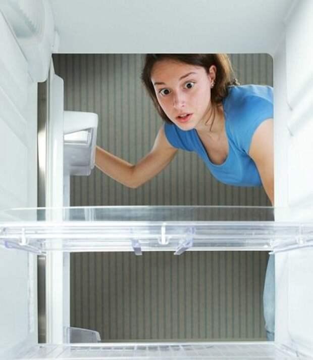 пустой холодильник. Картинка из свободного источника