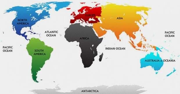 Самые невероятные факты о континентах