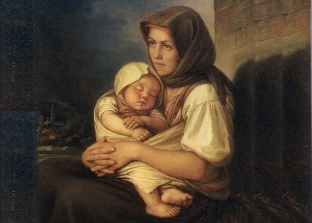 Нередко солдатки старались пристроить незаконнорожденного ребенка в другую семью. /Фото: facedobra.com